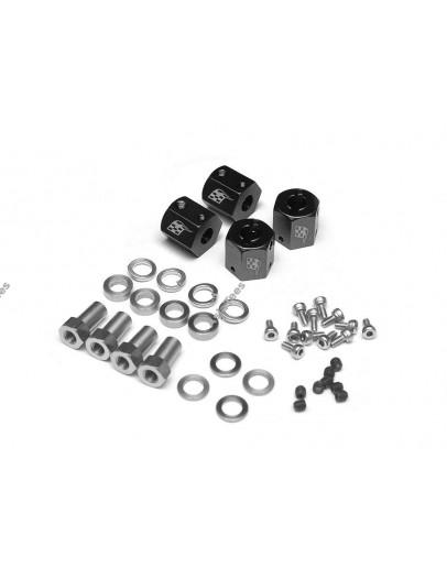 Boom Racing KRAIT™ Aluminum 12mm Wheel Hex Widener (4) (Offset: 8mm) - Black