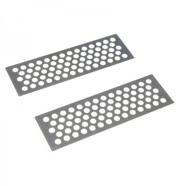 METAL SAND PLATES (2) SILVER