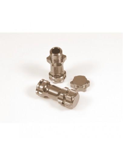 1/8 Car extention hub, Gun metal (2) Ensanchador