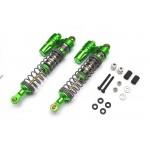 Boom Racing Aluminum Piggyback Shock (2) Gun Metal for Axial Wraith