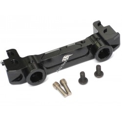 Boom Racing Aluminum Front Bumper Mount Black for Axial SCX10 II