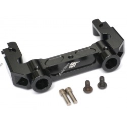 Boom Racing Axial SCX10 II Aluminum Rear Bumper Mount Black