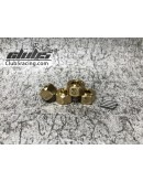 Extended Brass Wheel Hex w/ Pin ( 8mm / 4 ) for Element Euduro