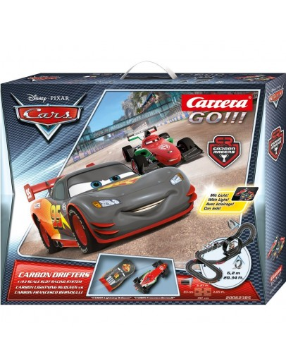 Disney/Pixar Cars - Carbon Drifters (Carbon Flash + Carbon Francesco, with light) 6,2m