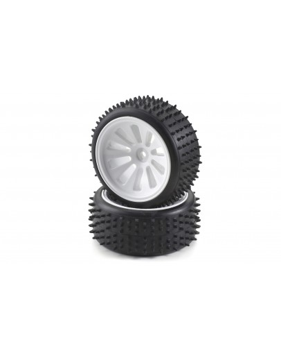 Tyre/ wheel rim set CV-10B white (4)