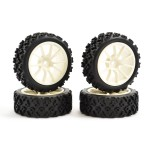 FASTRAX 1/10 STREET/RALLY TYRE 10SP WHITE WHEEL (4u.)
