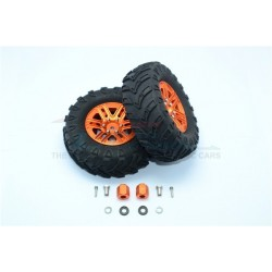 TRAXXAS TRX4 TRAIL CRAWLER 1.9' Aluminum 6 Spokes BBS Rims With Onroad Tires And 9mm Thick Alloy Hex - 12pc set