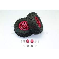 TRAXXAS TRX4 TRAIL CRAWLER 1.9' Aluminum 6 Spokes BBS Rims With Onroad Tires And 12mm Thick Alloy Hex - 12pc set