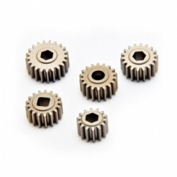 HOBAO DC-1 TRANSMISSION GEAR SET - 14T, 17T, 18T X 2, & 21T