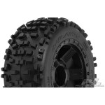 PRO-LINE BADLANDS 3.8 MOUNTED ON BLACK DESPERADO OFFSET WHEEL (17MM)