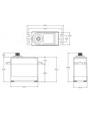 SRT DL3017 - Fullsize Digital Servo with Metal Gear - 0.15sec / 17.0kg