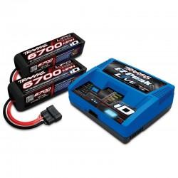 PACK EZ-Peak Live iD 12-AMP Charger 2 x LIPO 6700mAh 4S
