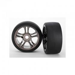 6477 Rear Tires & wheels, assembled, glued