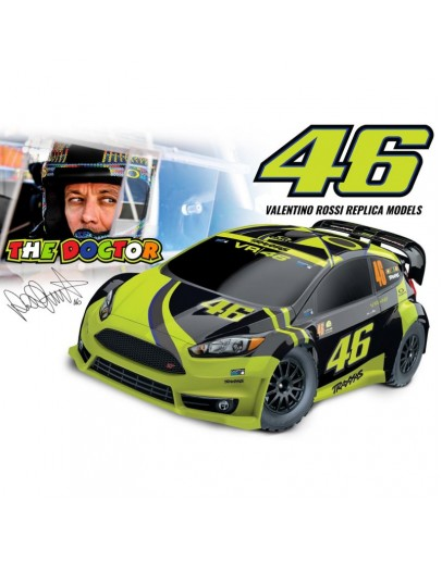 VR46 FORD FIESTA: 1/10-Scale 2WD Brushed Valentino Ross