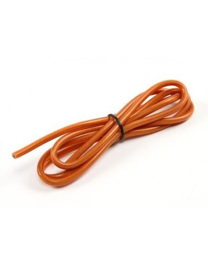 Pure-Silicone Wire 12AWG 1m (Translucent Orange)