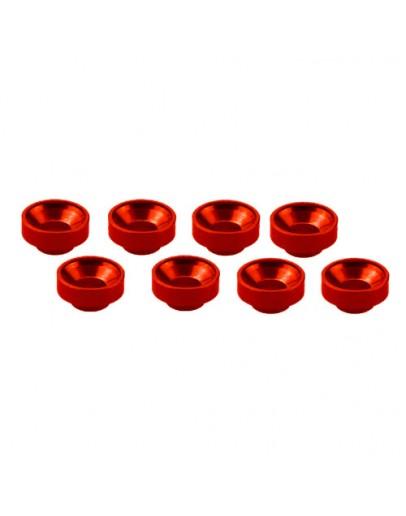 M3 ALUMINUM SERVO WASHER RED (8 PCS)