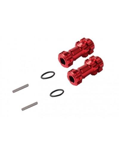 1/8 Car extention hub, RED (2) Ensanchador