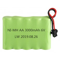 Ni-Mh AA 3000mAh 6V (SM connector)