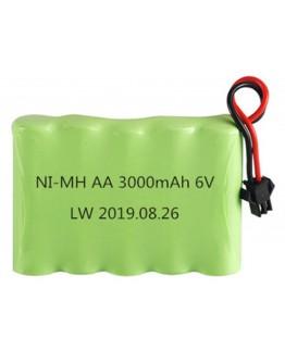 Ni-Mh AA 3000mAh 6V (SM connector)