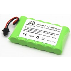 Ni-Mh AA 3000mAh 7.2V (SM connector)
