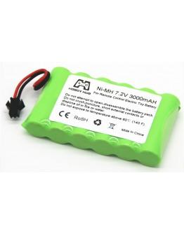 Ni-Mh AA 3000mAh 7.2V (SM connector)