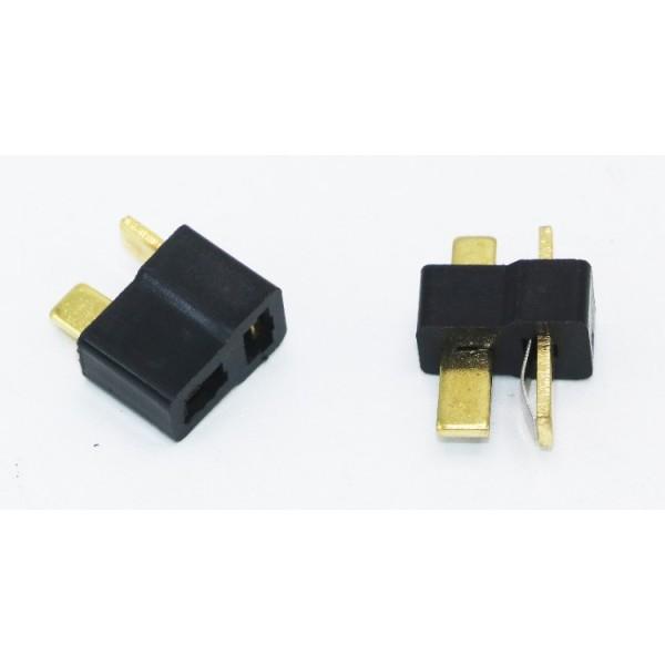 Deans T Plug (1 male/1 female) Preto