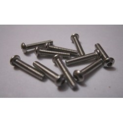 M2x10mm Button HEAD (10) INOX