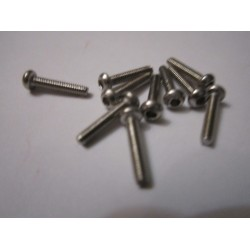 M2x12mm Button HEAD (10) INOX