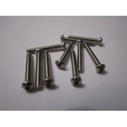 M2x14mm Button HEAD (10) INOX