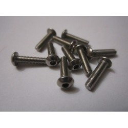 M2,5x10mm Button HEAD (10) INOX