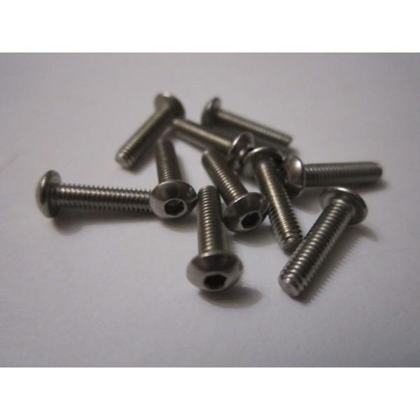 M2,5x10mm Button HEAD (10) INOX