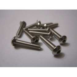 M2,5x12mm Button HEAD (10) INOX