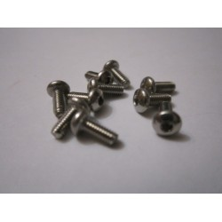 M2,5x6mm Button HEAD (10) INOX