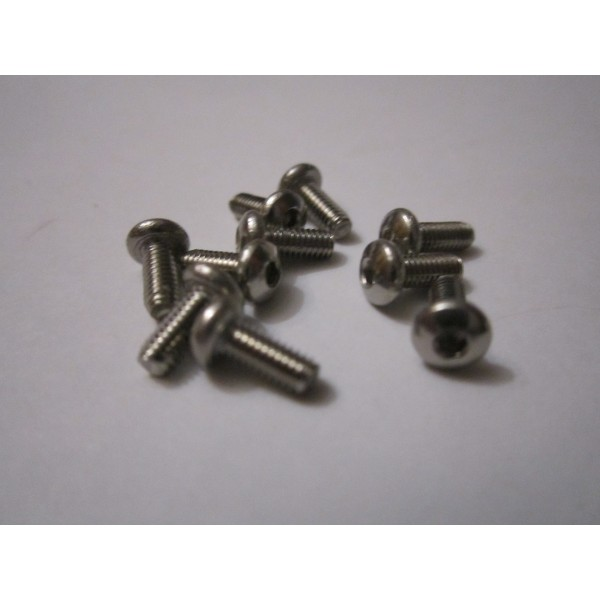 M2,5x6mm Button HEAD (10) INOX