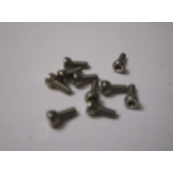 M2,5x6mm CAP HEAD (10) INOX
