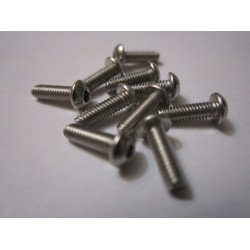 M2,5x8mm Button HEAD (10) INOX
