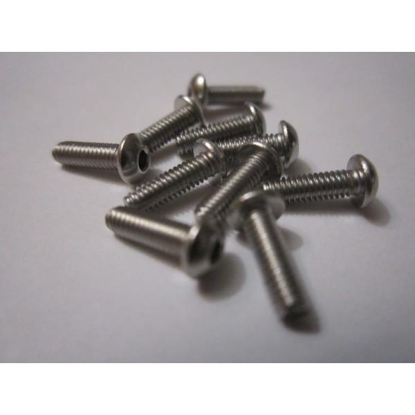 M2,5x8mm Button HEAD (10) INOX