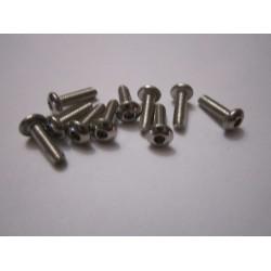 M3x10mm Button Head Screw (10) INOX
