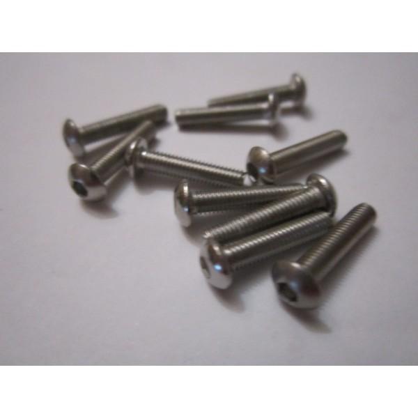 M3x14mm Button Head Screw (10) INOX