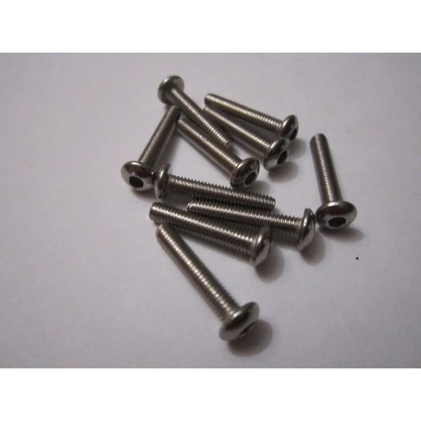M3x16mm Button Head Screw (10) INOX