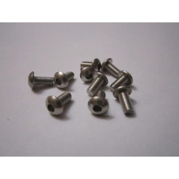 M3x6mm Button Head Screw (10) INOX