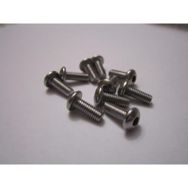 M3x8mm Button Head Screw (10) INOX