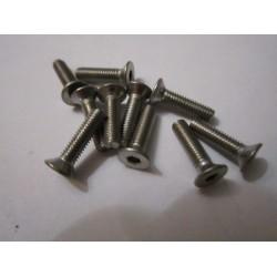 M3x12mm Flat Head Screw (10) INOX