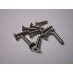 M3x16mm Flat Head Screw (10) INOX