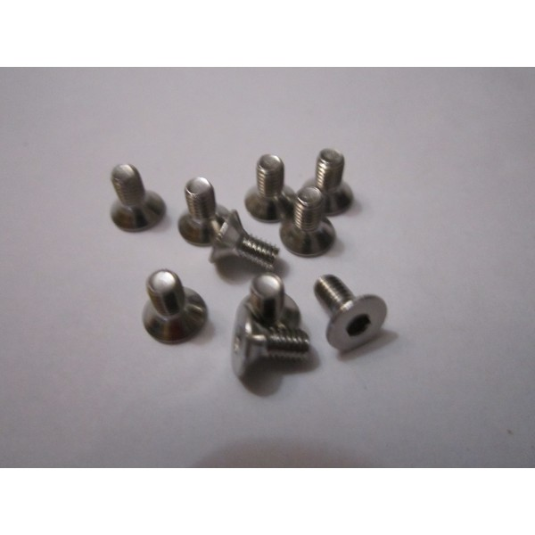 M3x6mm Flat Head Screw (10) INOX