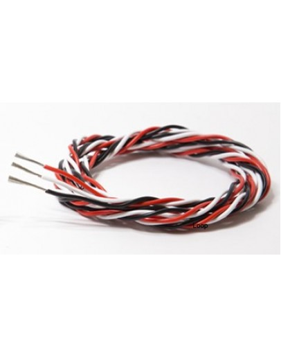 26AWG triple extension cable Futaba (1M)