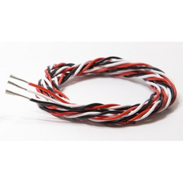 26AWG triple extension cable 1M R/B/W