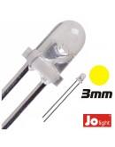 Led 3mm amarelo 3V (set 10pc)