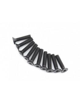 Head metal Flat Hex Screw M4x18-10pcs / set