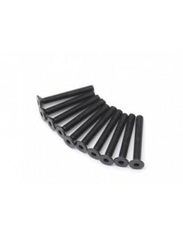 Head metal Flat Hex Screw M4x30-10pcs / set